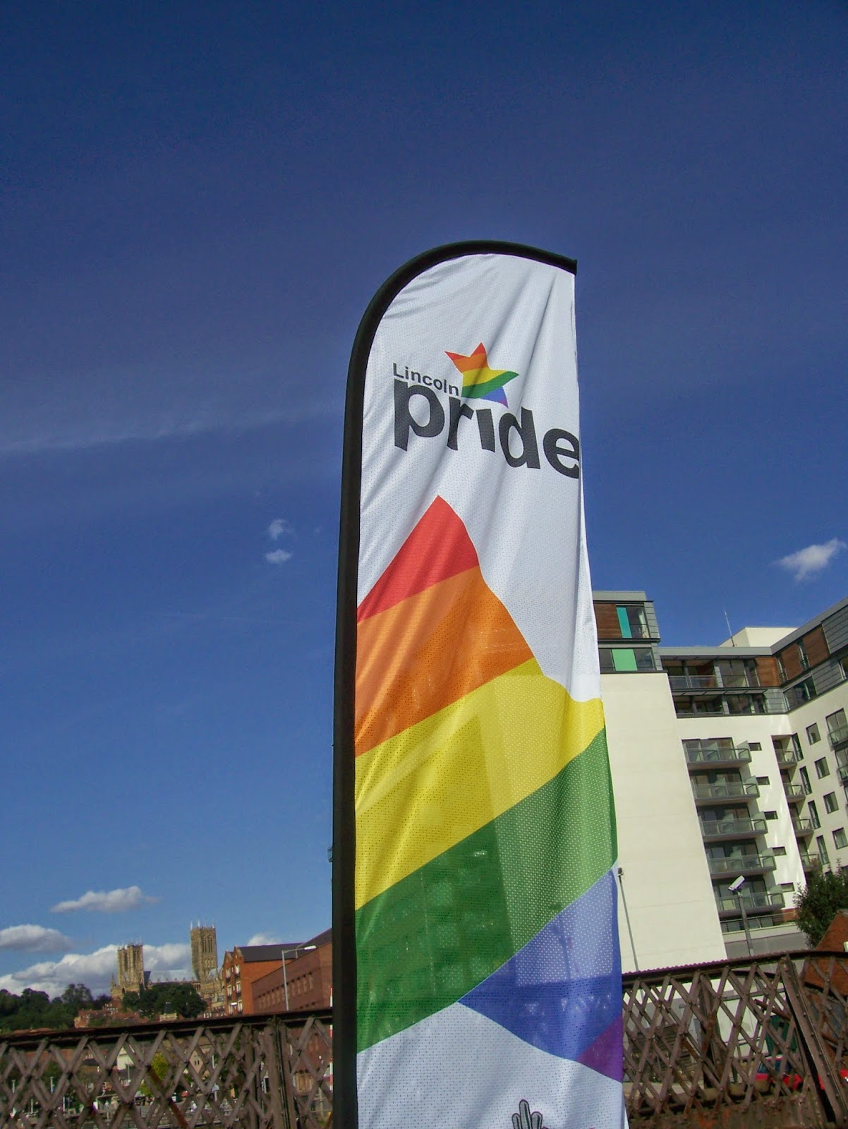 Lincoln Pride flag in 2009